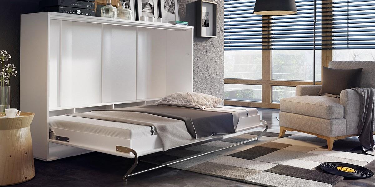 smart seng SMART CONCEPT 120 x 200 HVID MAT VÆGSENG   Vægsenge.dk smart seng
